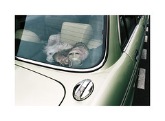 On the road to Venice (Punkroyaltiger) Tags: paris france film car 35mm nikon mask analogue portra