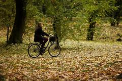 (der_makabere (Cornel Putan)) Tags: autumn woman girl leaves canon lens eos mark herbst full ii romania frame botanic 5d tele usm toamna parc f28 ef cornel romanian cicle bycicle timisoara ultrasonic 200mm parcul timis frunze bicilcleta putan biciclist 2013 femeie dermakabere 5d2