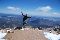 top of the world (middleton_nick) Tags: winter snow cold jump colorado view peak oxygen co summit breathe elevation pikespeak scenicview
