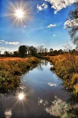 (micht2012) Tags: sun water river landscape nikon farms refections d90