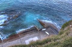 Bondi Drain HDR (dan_walk) Tags: ocean new blue sea green water up wales high rocks aqua surf dynamic board south sydney australia surfing drain nsw colourful hillside range hdr