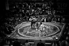 Grapple (lukemarkof) Tags: light shadow holiday black building art history classic japan dark giant fun happy exposure day play view wrestling style competition funky special exotic sumo shinto depth interest challenging 2014