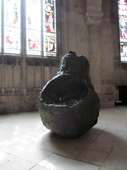 The World Gone Pear-Shaped (pefkosmad) Tags: sculpture art modernart exhibition gloucestershire gloucester gloucestercathedral crucible2 deborahvanderbeek crucibleexhibition theworldgonepearshaped