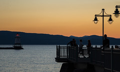 Summer evenings coming to a close soon (LEXPIX_) Tags: camera bridge lake mountains burlington 1 pier fishing inch vermont hand waterfront background sony held adirondack vt adk sensor lexpix champlin rx10