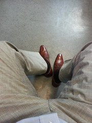 Shoes of the day. With light grey pants and brown socks. (DressShoeFetish) Tags: gay fetish shoe dress