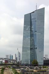 ECB European Central Bank headquarters Frankfurt (bcmng) Tags: reflection architecture skyscraper frankfurt main prism architektur glas ecb mainriver ezb coophimmelblau europeancentralbank deconstructivism frankfurtskyline germanarchitecture archidose archdaily ezbneubau ezbfrankfurt