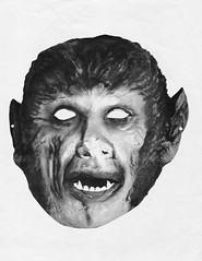 Moon Monster paper Werewolf mask