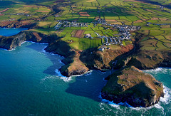 Tintagel from 1,500 feet (sno