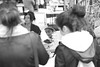 Mirror Mirror (ROSS HONG KONG) Tags: mirror girl shopping earrings jewelry reflection melrosetradingpost la losangeles california streetphoto market fleamarket black white bw blackandwhite leica monochrom monochrome noir blanc
