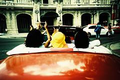 Havana (cranjam) Tags: lomo lomography film slide xpro kodak elitechrome100 cuba havana lahabana tourists turisti vintage car auto