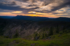 Coldwater Ridge (writing with light 2422 (Not Pro)) Tags: coldwaterridge mountsainthelens washingtonstate richborder landscape sunset sonya77 indianpaint