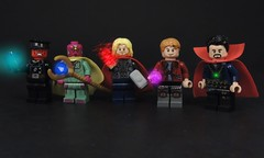 The Infinity Stones (MrKjito) Tags: lego minifig marvel super hero villain cinematic universe infinity stones time mind power space reality