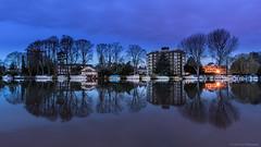 River Thames at Kingston (Colin_Evans) Tags: canburygardens kingston night kingstonuponthames bluehour blue hour dawn morning twilight reflection reflections river rivers th riverthames thames the