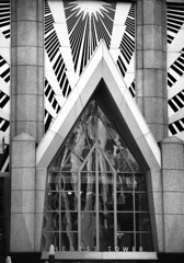 Hearst Tower (hutchphotography2020) Tags: building glass monochrome nc nikon charlotte entrance architectural