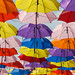 array of colours, array of umbrellas