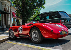 Jaguar C-Type (Rivitography) Tags: red classic car race racecar canon vintage rebel connecticut greenwich fast exotic adobe jaguar t3 expensive rare supercar horsepower lightroom 2014 ctype rivitography sh502