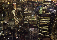 NY Lights (fantommst) Tags: city nyc usa ny newyork night buildings lights us cityscape view lisaridings fantommst
