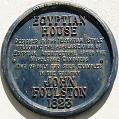 Plaque (chrisinplymouth) Tags: uk england sign metal architecture plaque circle plymouth devon round marker squaredcircle squircle date historicalmarker devonport 1823 egyptianhouse oldplymouth egyptianstyle johnfoulston plymgrp cw69x chrisinplymouth