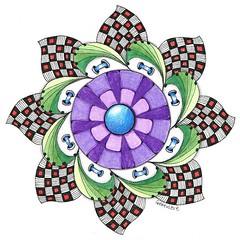 mandala026 (Amaryllis Creations) Tags: mandala coloredpencil zentangle zendala