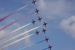 RAF Red Arrows (Rens Bressers) Tags: show holland netherlands june aviation military air jet nederland airshow planes brabant noordbrabant militair luchtvaart