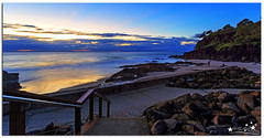 Walk Down (Brett Huch Photography) Tags: ocean sea sky seascape reflection beach nature water sunrise reflections surf waves seascapes australia qld queensland aussie coolangatta goldcoast snapperrocks wavesbreaking
