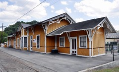 Alderson, West Virginia (2 of 4) (Bob McGilvray Jr.) Tags: railroad station train tracks amtrak westvirginia co depot csx alderson chesapeakeohio