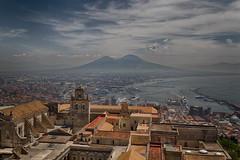 Vesuvio and the Monastery of San Martino (Dean Ayres) Tags: italy italia day campania cloudy napoli naples bayofnaples vesuvio castelsantelmo certosadisanmartino
