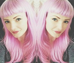 Added some lavender up top and went a bit darker pink on the bottom. (holiday_jenny) Tags: hairdye pinkhair lavenderhair