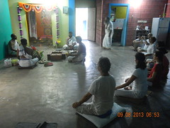 Inner purification at Yoga Vidya Gurukulam in Chennai in 2013 (amavivek) Tags: water yoga by bath ttc inner holy ananda taking vidya puja swami chaitanya purification homa vedic mantras takingbathinholywatersanctifiedbyvedicmantrasbeforepranavidyacourseinyogavidyagurukulamchennai indiapranavidyacourse