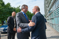Greek Prime Minister Antonis Samaras is about the conclusions of the Greek EU presidency