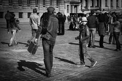 old school - Riga (Latvia) (olli's place) Tags: street city travel portrait blackandwhite bw white black monochrome canon germany eos flickr oliver streetphotography scene oldschool latvia explore magdeburg creativecommons meier riga strassenszene 6d fotographer primelens strassenfotografie