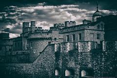 Tower of London (mhoffman1) Tags: uk england london castle monochrome stone dark unitedkingdom ominous royal historic fortress towerhill towerhamlets silve outerward