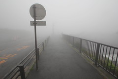 fog (BergMattias) Tags: road mountain japan fog climb fuji mt hike