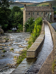 Gayle Mill - Yorkshire Dales (stevef16G) Tags: wood stone olympus waterfalls yorkshiredales hawes em1 1240mm riverure gaylemill