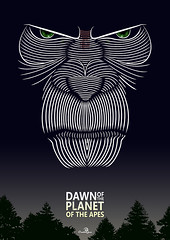 Dawn of the Planet of the Apes - Variant (JasonWStanley) Tags: photoshop poster design ape illustrator vector ceasar dawnoftheplanetoftheapes