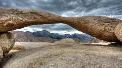Mt. Whitney Through Lathe Arch (Doug Santo) Tags: mtwhitney sierranevada lonepine naturephotography highway395 easternsierra alabamahills easterncalifornia landscapephotography alabamahillsrecreationarea lathearch