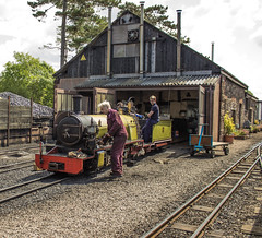 For those about to Rock... (Blaydon52C) Tags: rock train lakedistrict rail railway loco trains steam cumbria locomotive railways lakeland cumberland narrowgauge eskdale ravenglass 15inch riveresk dalegarth riverirt cumbriancoast rivermite wroxhambroad douglasferreira broadnorthern