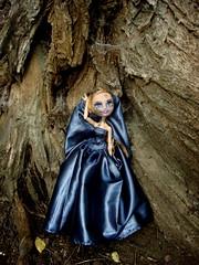 Ashlynn, Princess of Pain (Medithanera) Tags: blue dark high pain eyes doll sad lashes dress darkness princess ooak after cry cementary custom ever inset repaint