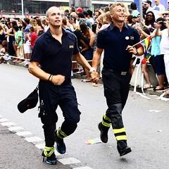 #firemen #stockholm #pride #sweden #stockholmpride (Raul Wong Roa) Tags: square squareformat iphoneography instagramapp uploaded:by=instagram