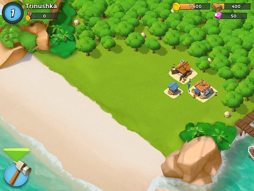 Boom Beach Heads-Up Display: screenshots, UI