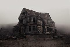 Foghouse (SkylerBrown) Tags: house abandoned fog architecture dark sad ominous foggy haunted creepy spooky depressing