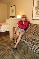 new97284-IMG_9314t (Misscherieamor) Tags: tv sitting feminine cd motel tgirl transgender mature sissy tranny transvestite crossdress ts gurl tg travestis travesti travestie m2f pencilskirt xdresser tgurl slipshowing satinblouse