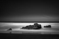 Pacific Moment (StefanB) Tags: ocean california longexposure sea sky bw seascape water monochrome coast pacific outdoor horizon geotag gazoscreek 2014 em5 1235mm