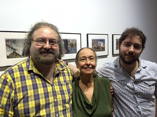 Photographer Gory Rogelio Lopez with wife Lucia Ballester and son Adrian at his group show at Juan Ruiz Gallery in Wynwood