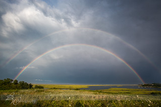 Double Rainbow over Lower Cape Cod