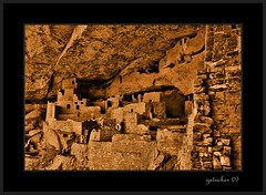 Long Ago and Far Away (the Gallopping Geezer 3.6 million + views....) Tags: old house building home rock rural canon village indian canyon structure historic hidden nativeamerican mesaverde tribe 2009 cliffdwelling geezer americanindian corel