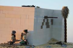 Sunset over El Alamein (Jacka!) Tags: photography lego outdoor battle scene el ww2 dak alamein afrikakorps brickarms