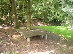 Picknick-Holzdeck (Jörg Paul Kaspari) Tags: tree quercus deck baum picknick eiche spielraum wiltingen holzdeck naturnaher picknickholzdeck holzplattform