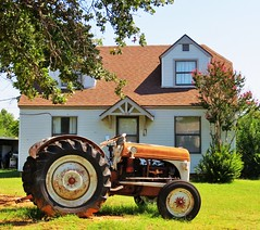 Tractor In The Front Yard (tikitonite) Tags:
