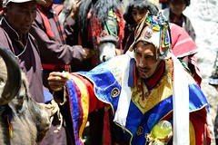Dance of the Amchi (pranav_seth) Tags: india piercing tradition himachal shaman trance spiti himachalpradesh namkhan namkan amchi incredibleindia dyingtraditions demul